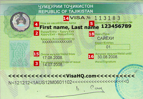 Tajikistani Visa issue date
